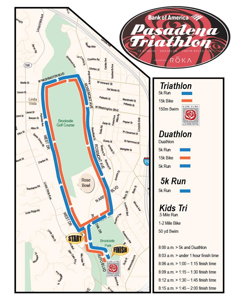 course maps pasadena triathlon